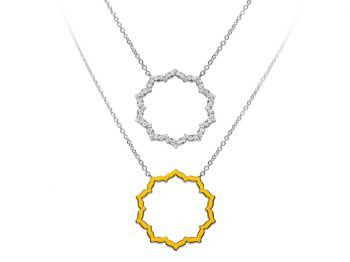 Silhouette Chakra Manipura Necklace 32 mm