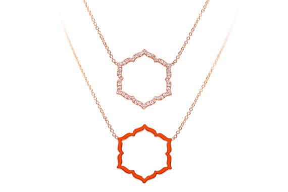 Caspita Silhouette Swadhistana necklace rose gold diamonds