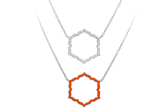 Caspita Silhouette Swadhistana necklace white gold diamonds