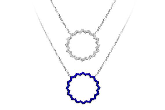 Caspita Silhouette Vishuddha necklace white gold diamonds