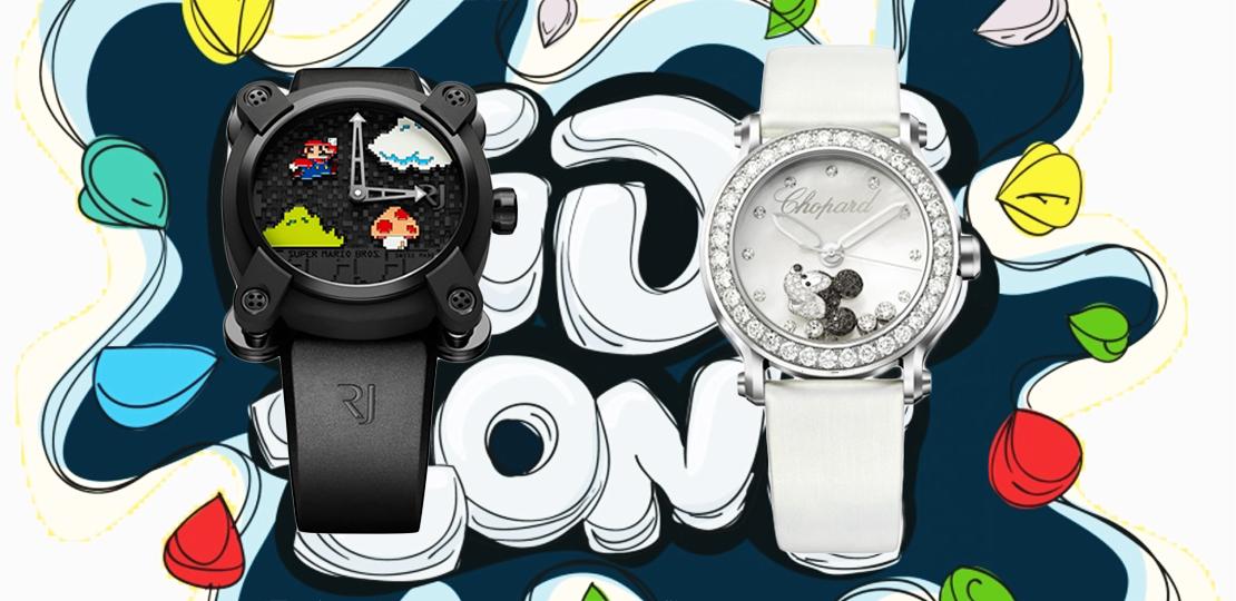 Couverture Montre de Luxe Pour Enfant. RJ Super Mario Bros et Chopard Happy Mickey