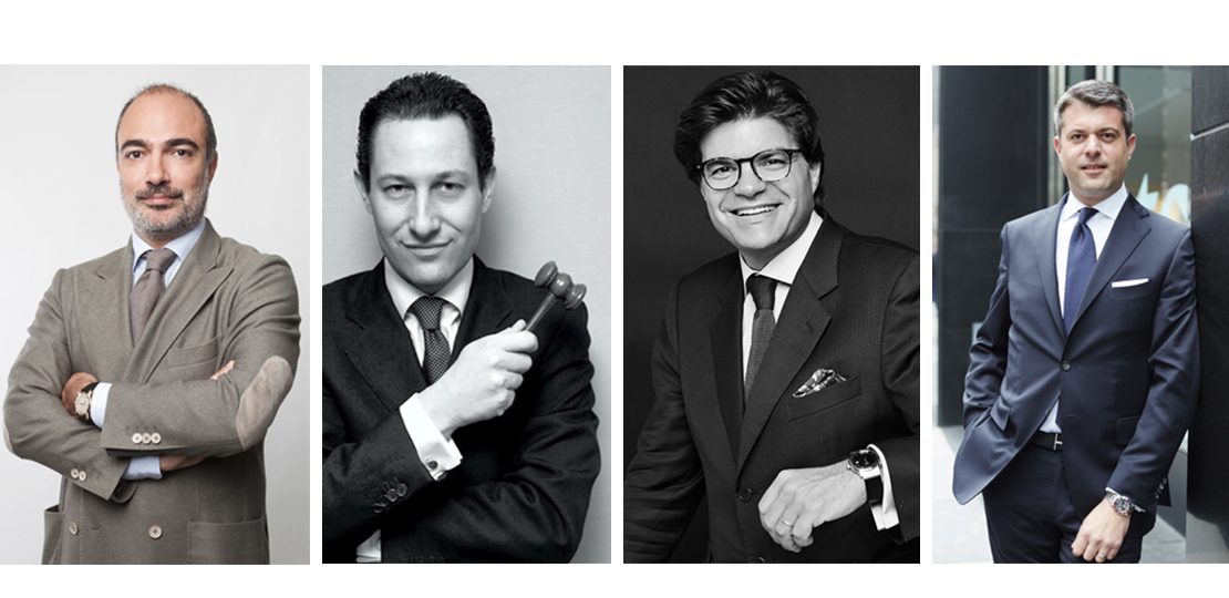 Experts horlogers: Matthew Hranek, Geoffroy Ader, Thomas Perazzi, Aurel Bacs et Alexandre Ghotbi