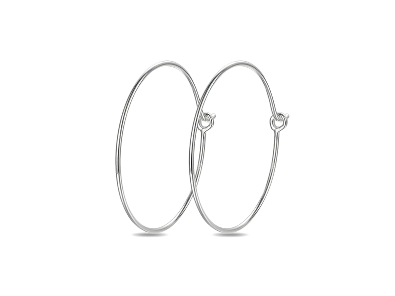 Innocent Stone x The Daily Deb - Boucle d'oreilles créoles en or blanc