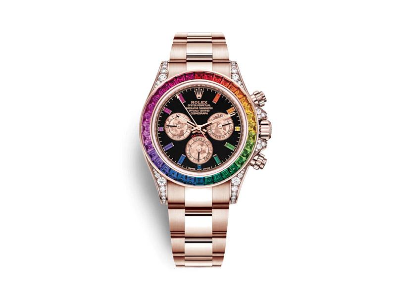 Rolex - Cosmographe Daytona Rainbow en Or Everose