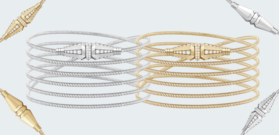 Boucheron Jack collection, or blanc et or jaune et diamants