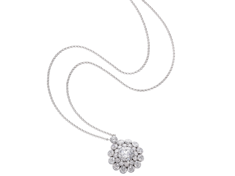 Chopard - Collier en or blanc avec diamants blancs issu de la collection Magical Setting