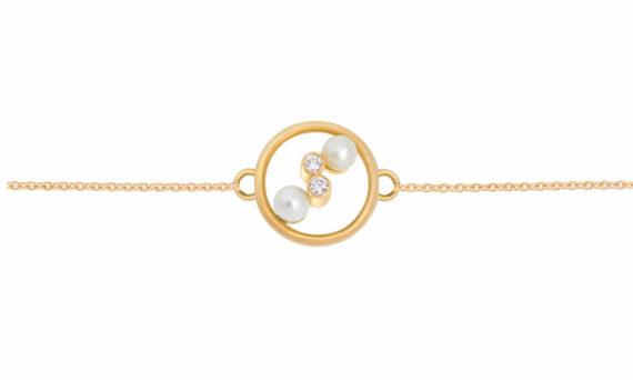 Enora Antoine Eternal Kô pearl bracelet 18ct yellow gold pearls diamonds