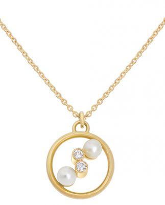 Enora Antoine Eternal Kô pearl necklace 18ct yellow gold pearls diamonds