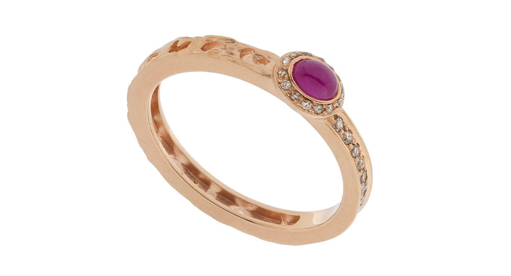 Bague Orion saphir rose ovale
