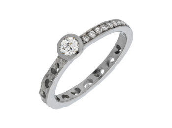 Orion Ring with Diamond Pave & Circle Halo