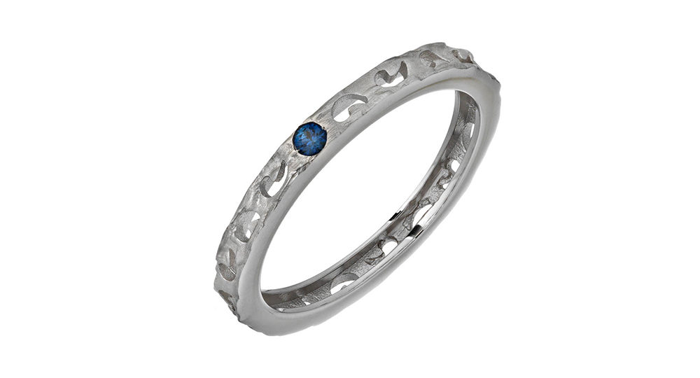 Orion Ring with Single Sapphire
