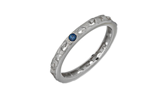 Marco dal Maso Amaia sapphire ring 18k white gold blue sapphire