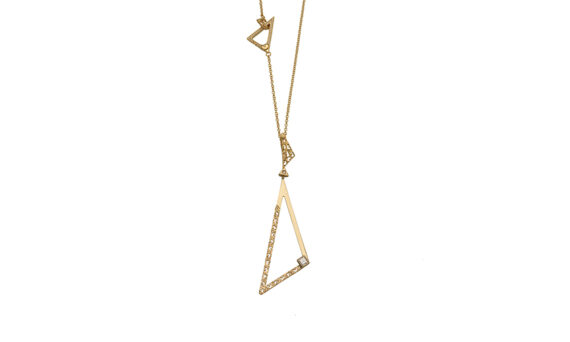 Marco dal Maso Amaia necklace 18k yellow gold white diamonds