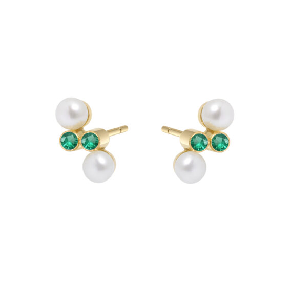 Eternal Kô emerald studs