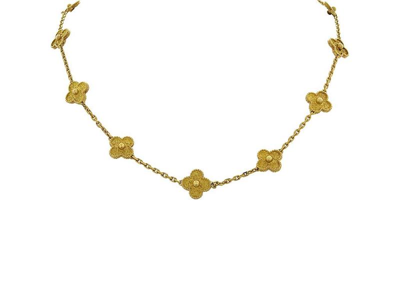 Van Cleef & Arpels - Sautoir Alhambra or jaune