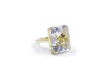 Pulpo rock crystal ring