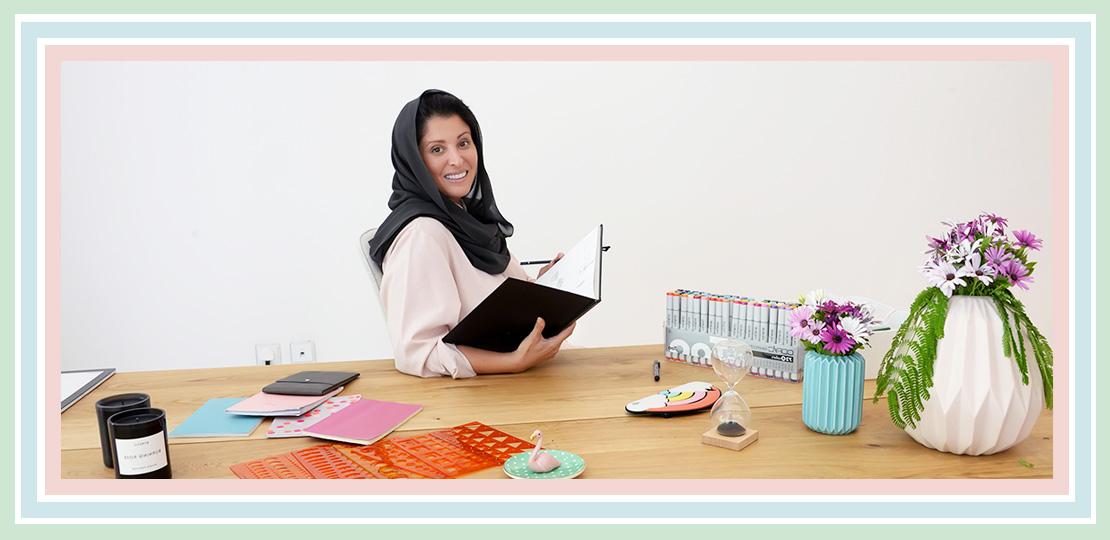 Portrait cover of Nourah Al Faisal founder of Nuun Jewels