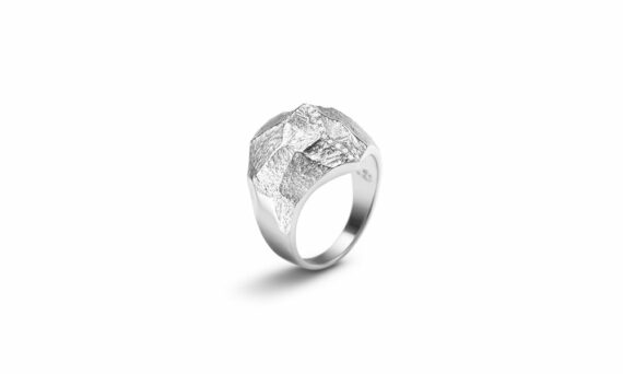 Bonnet Altitude ring 18ct grey gold G-VS diamonds 0.076ct
