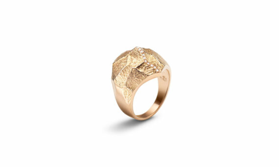 Bonnet Altitude ring 18ct rose gold G-VS diamonds 0.076ct