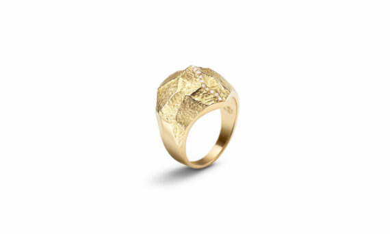 Bonnet Altitude ring 18ct yellow gold G-VS diamonds