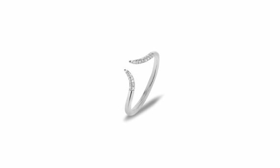 """Corne"" diamond ring"