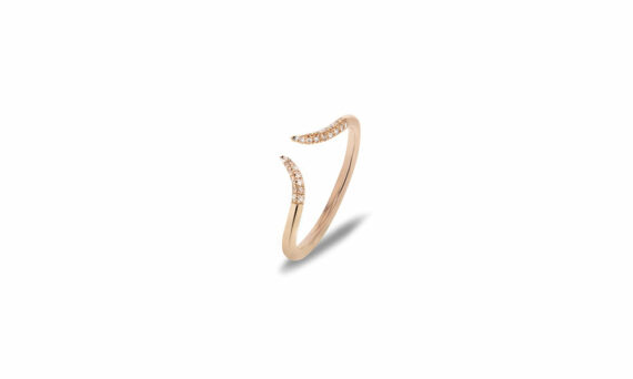 Bonnet Corne diamond ring 18ct rose gold G-VS diamonds 0.10ct