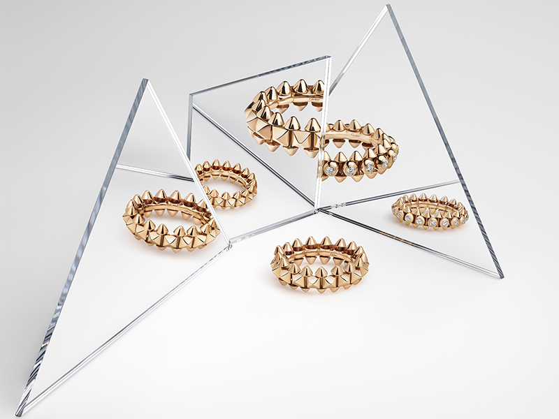 Cartier - Clash rings
