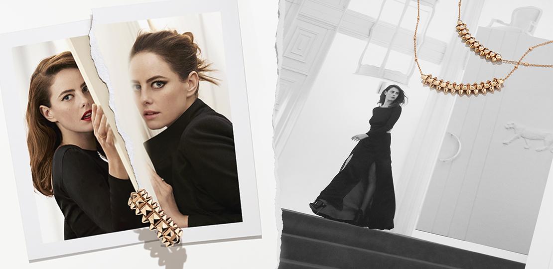 Cartier Nouvelle Collection Clash collier et bague portés par l'actrice Kaya Scodelario