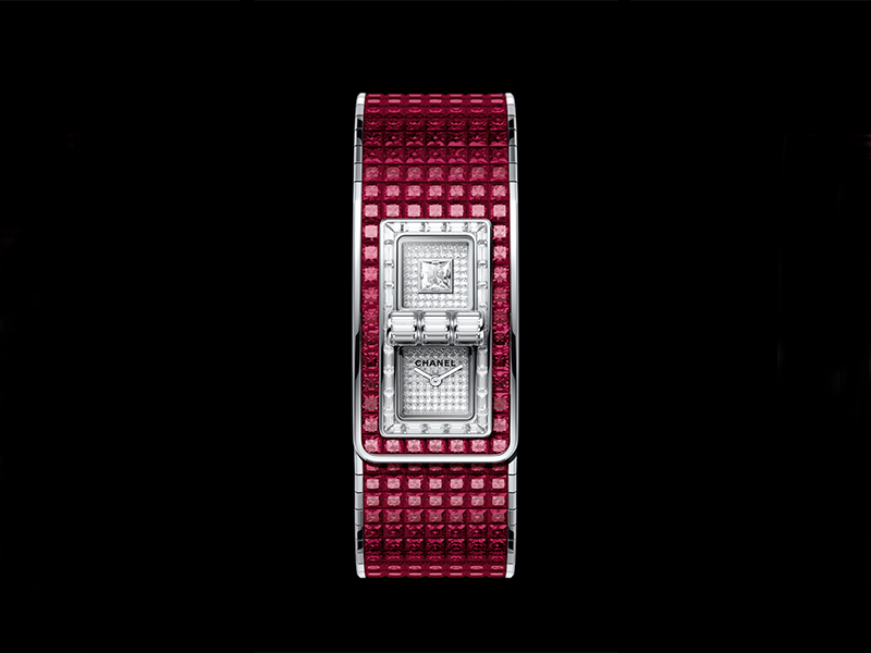 Chanel - Montre Code Coco sertie de rubis et de diamants