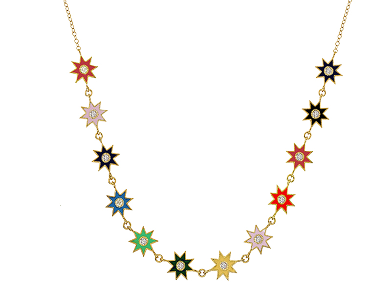 "Colette jewelry - Twinkle star collier en or jaune et enamel, issue de la collection ""Galaxia Enamel"""