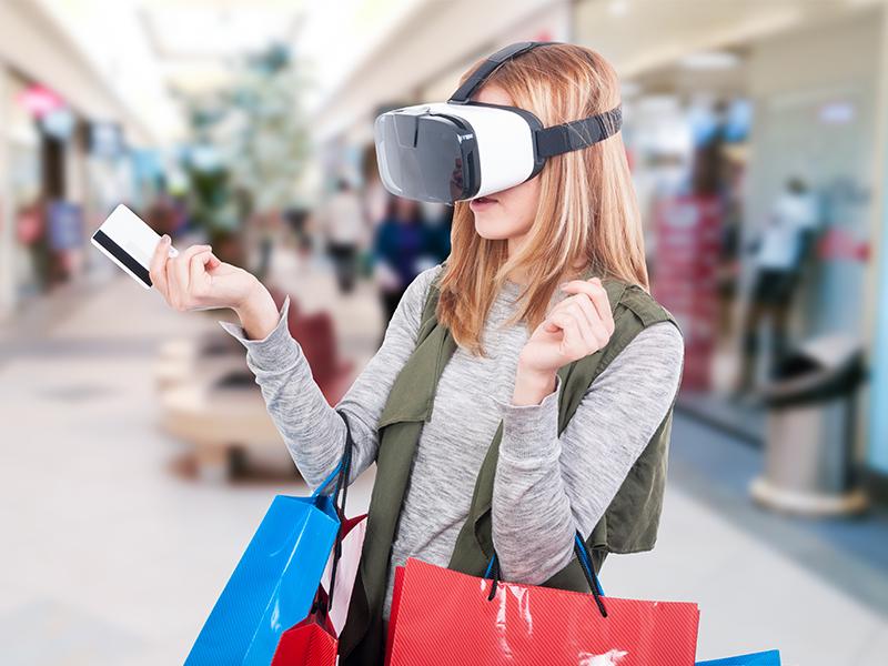 customer using virtual reality