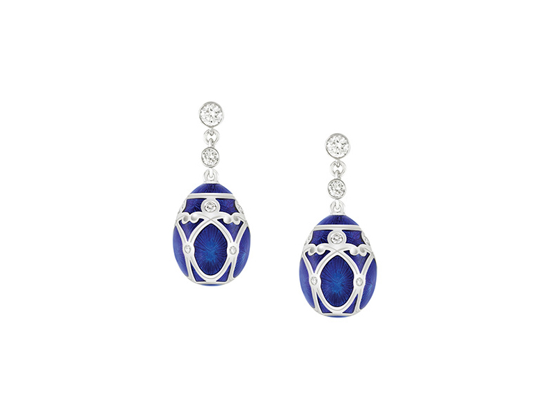 Fabergé - Palais Yelagin Royal Blue Earrings available online on the eye of jewelry
