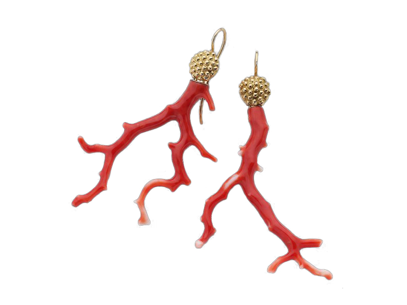 "Garnazelle - ""Portofino"" earrings mounted on yellow gold"