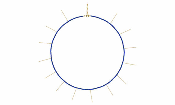 Rivka Nahmias Chakra necklace 18ct yellow gold lapis lazuli