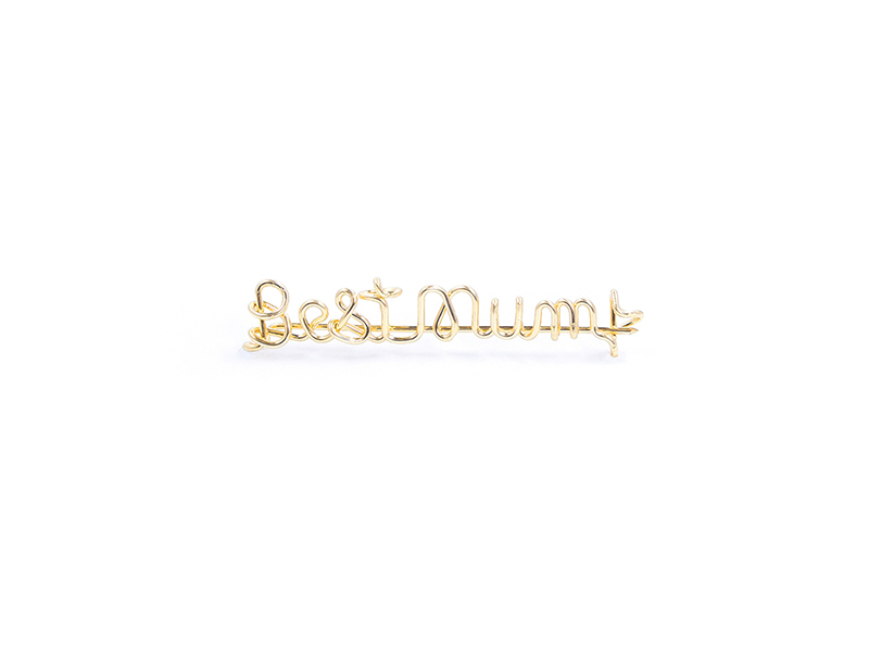 by Elia - Best Mum Filled Gold Brooch - mother's day gift