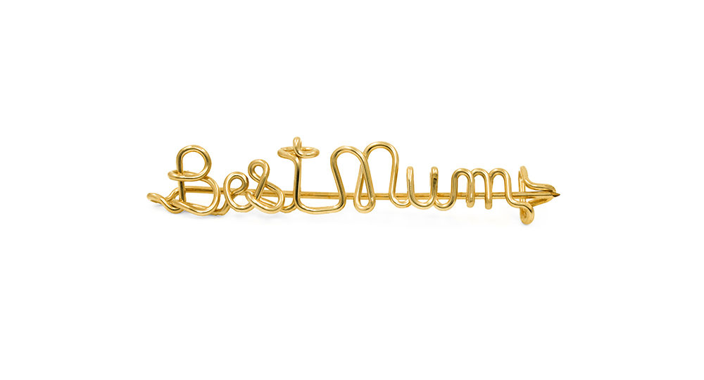 Broche Best Mum Gold Filled