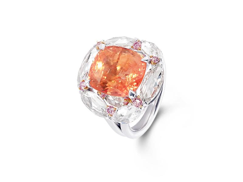 David Morris - Padparadscha sapphire ring