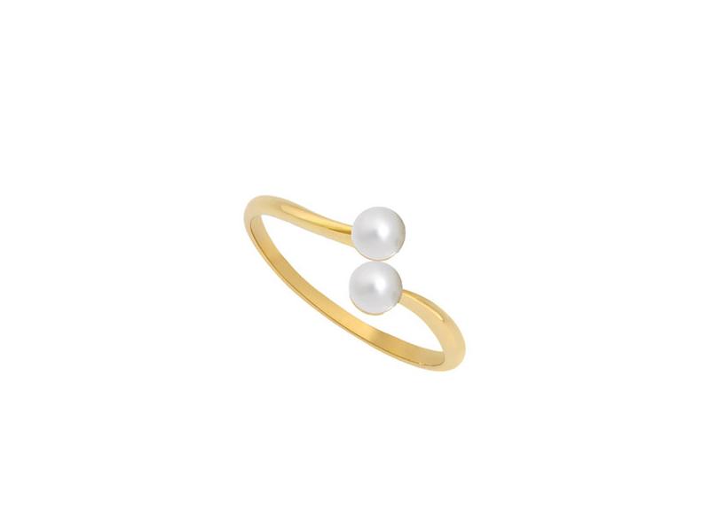 Enora Antoine - Bague Eternal Ko en or jaune et perles