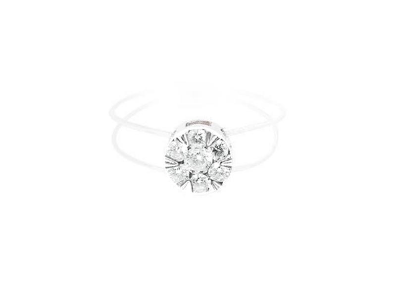 """Persée Paris - """"Floating Ring"""" en or blanc et diamant"""