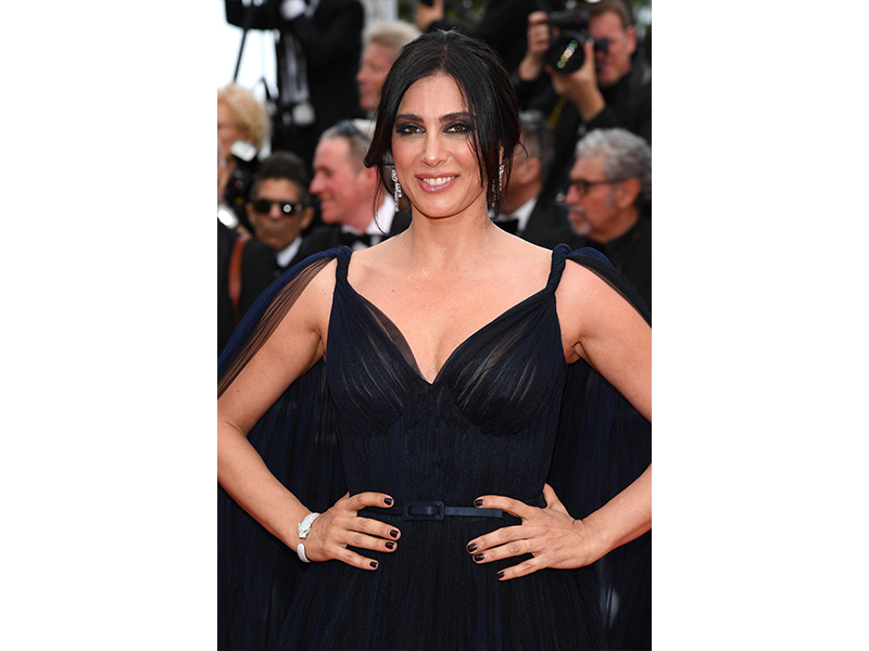 Cartier - Nadine Labaki wore the Panthère de Cartier earrings in white gold set with diamonds, emeralds and onyx