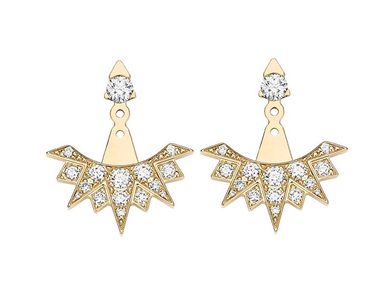 Piaget - Dessous d'oreilles ciselées en or sertis de diamants
