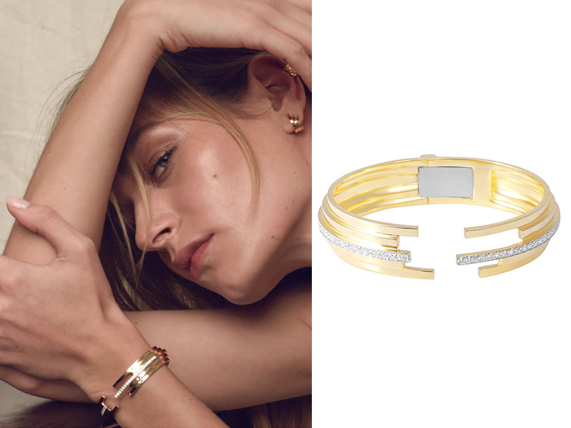 Sibylle Von Münster - Bracelet Fragment en or jaune serti de diamants