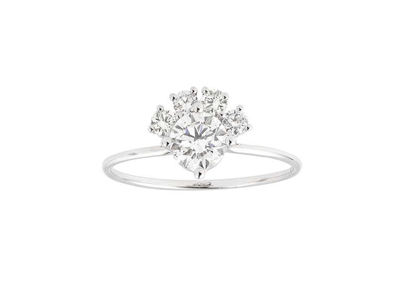 Innocent Stone - Bague Solitaire en or blanc et diamants de synthèse