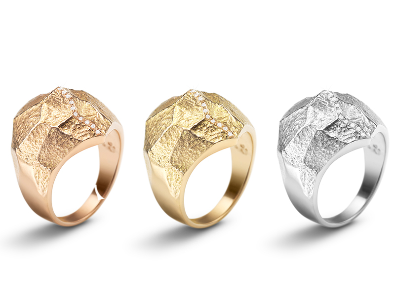 Bonnet - Altitude Diamond rings available on rose, yellow and white gold