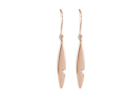Amazonia earrings mounted on rose gold