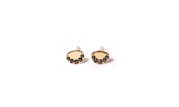 Pebble black diamond earrings