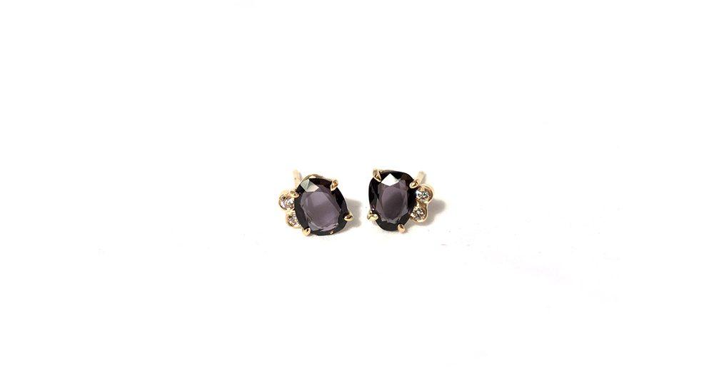 Spinel stud earrings