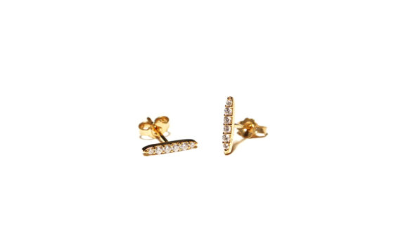 Les Rêveries d'Eve Diamond stud earrings 18ct yellow gold white diamonds