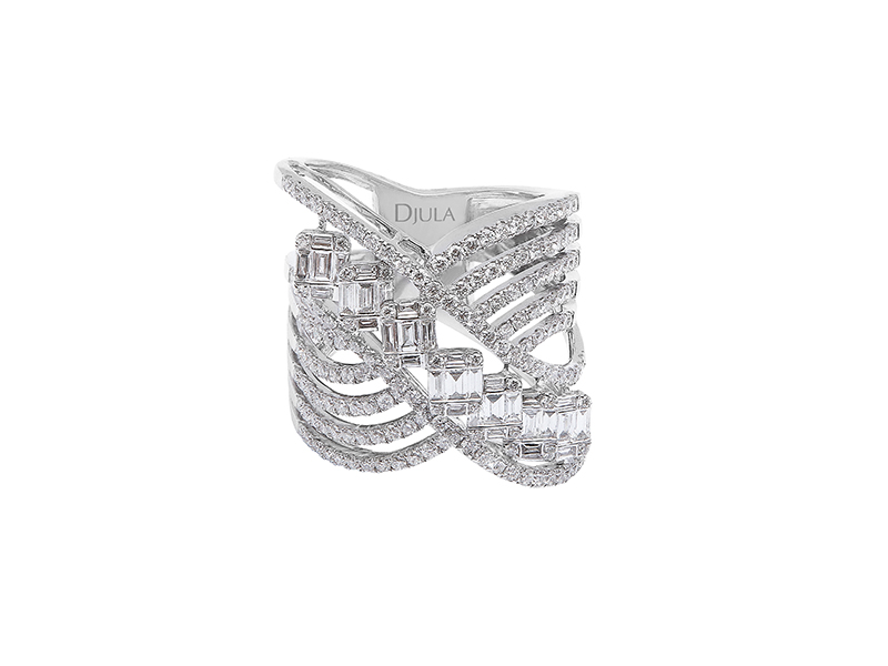 Djula - Bague Beverly Hills en or blanc sertie de diamants