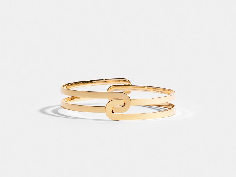JEM - Etreintes bracelet mounted on Fairmined yellow gold